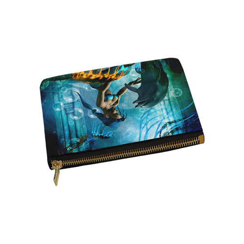 Dolphin with mermaid Carry-All Pouch 9.5''x6''