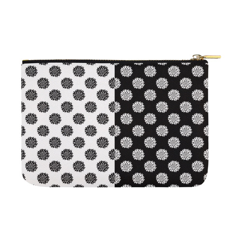 black and white peonies Carry-All Pouch 12.5''x8.5''