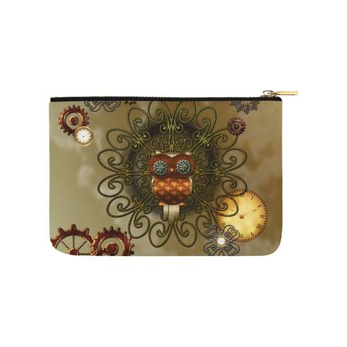 Steampunk cute owl Carry-All Pouch 9.5''x6''