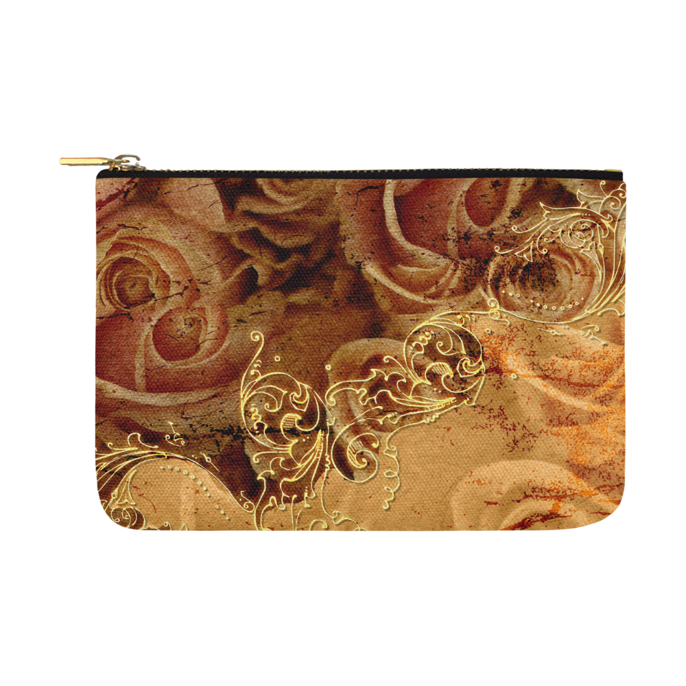 Wonderful vintage design with roses Carry-All Pouch 12.5''x8.5''