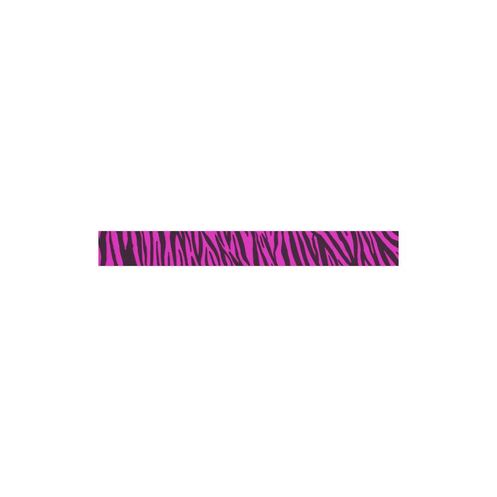 Hot Pink Zebra Stripes Fur Athena Women's Short Skirt (Model D15)
