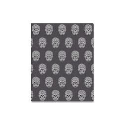 "funny skull pattern Canvas Print 16""x20"""