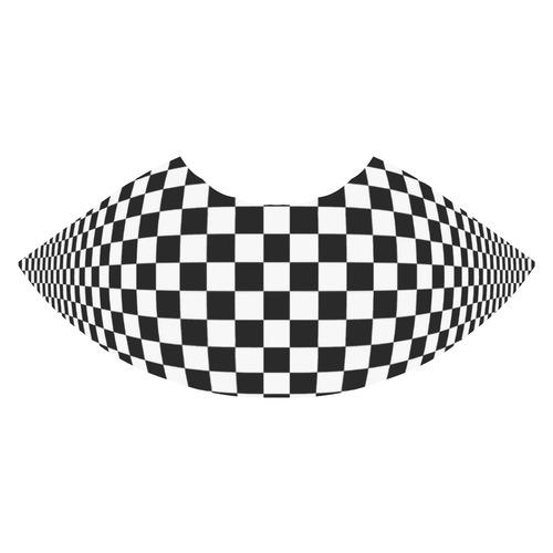 Optical Illusion Checkers Athena Women's Short Skirt (Model D15)