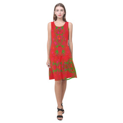 You Choose Mirrored RED Sleeveless Splicing Shift Dress(Model D17)