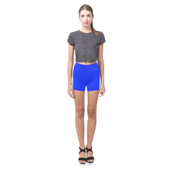Smoke Blue Flames Briseis Skinny Shorts (Model L04)