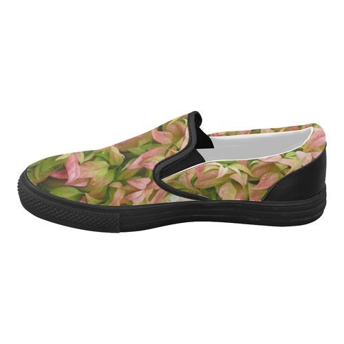 Pot full of colors, watercolors Women's Slip-on Canvas Shoes (Model 019)