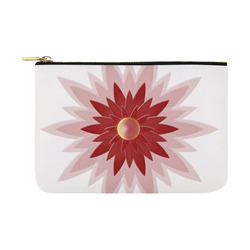 Red Christmas Flower Carry-All Pouch 12.5''x8.5''