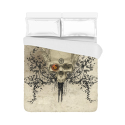 """Amazing skull with wings,red eye Duvet Cover 86""""x70"""" ( All-over-print)"""