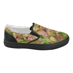 Pot full of colors, watercolors Women's Slip-on Canvas Shoes (Model 019)