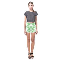 Smoke Green Flames Briseis Skinny Shorts (Model L04)