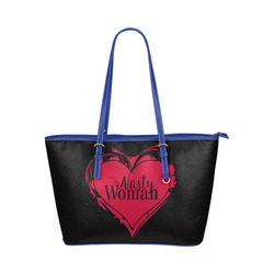 NASTY WOMAN ART HEART for powerwomen Leather Tote Bag/Large (Model 1651)