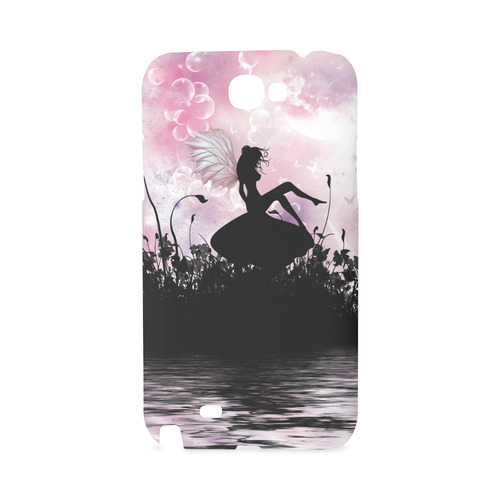 Pink Fairy Silhouette with bubbles Hard Case for Samsung Galaxy Note 2