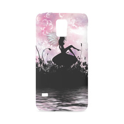 Pink Fairy Silhouette with bubbles Hard Case for Samsung Galaxy S5