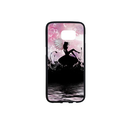 Pink Fairy Silhouette with bubbles Rubber Case for Samsung Galaxy S7 edge