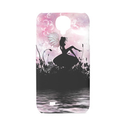 Pink Fairy Silhouette with bubbles Hard Case for Samsung Galaxy S4