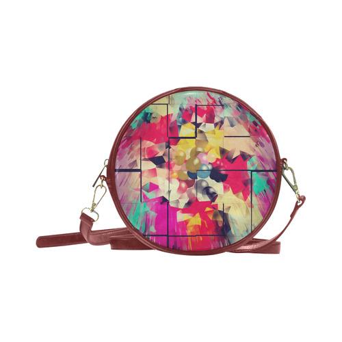 New World by Artdream Round Sling Bag (Model 1647)