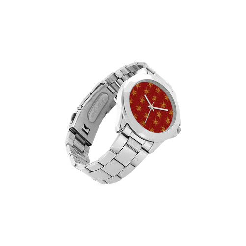 RED SPARKLES Unisex Stainless Steel Watch(Model 103)