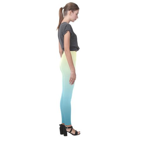 Pastels Ombre Graduated Color Cassandra Women's Leggings (Model L01)