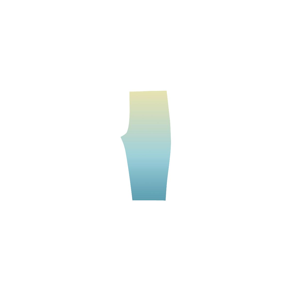 Pastels Ombre Graduated Color Hestia Cropped Leggings (Model L03)