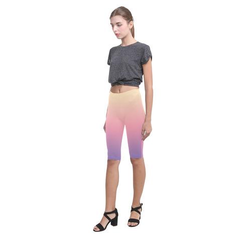 Pink Pastels Ombre Graduated Color Hestia Cropped Leggings (Model L03)