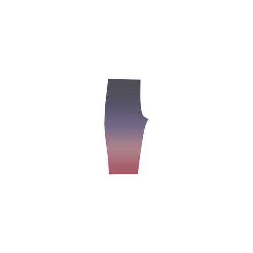Indigo Violet Ombre Graduated Color Hestia Cropped Leggings (Model L03)