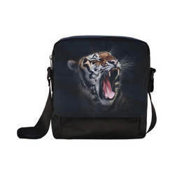 A painted glorious roaring Tiger Portrait Crossbody Nylon Bags (Model 1633)
