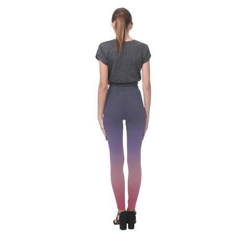 Indigo Violet Ombre Graduated Color Cassandra Women's Leggings (Model L01)