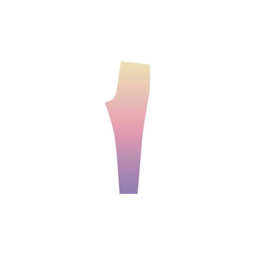 Pink Pastels Ombre Graduated Color Cassandra Women's Leggings (Model L01)