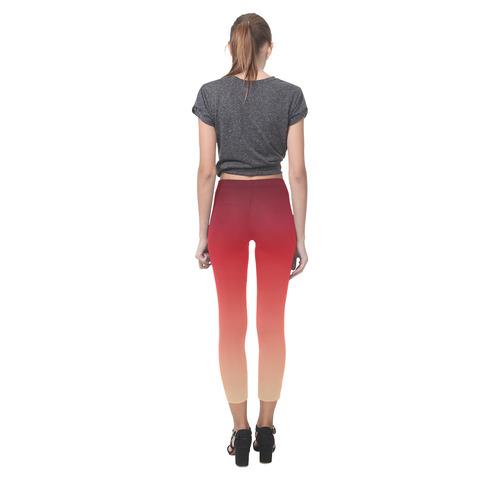 Red Ombre Graduated Color Capri Legging (Model L02)