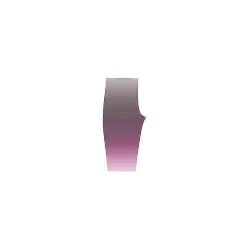 Purple Violet Ombre Graduated Color Hestia Cropped Leggings (Model L03)