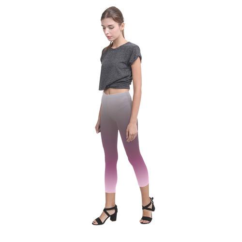 Purple Violet Ombre Graduated Color Capri Legging (Model L02)