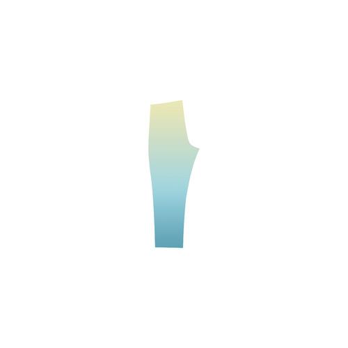 Pastels Ombre Graduated Color Capri Legging (Model L02)