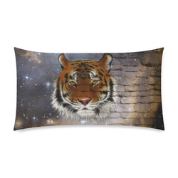 """An abstract magnificent tiger Rectangle Pillow Case 20""""x36""""(Twin Sides)"""