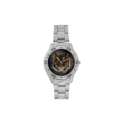 An abstract magnificent tiger Men's Stainless Steel Analog Watch(Model 108)