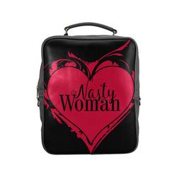 NASTY WOMAN ART HEART for powerwomen Square Backpack (Model 1618)