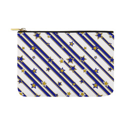 STARS & STRIPES blue gold white Carry-All Pouch 12.5''x8.5''