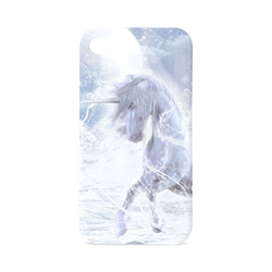A dreamlike unicorn wades through the water Hard Case for iPhone 4/4s