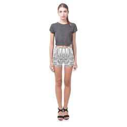 Lace Silver Briseis Skinny Shorts (Model L04)