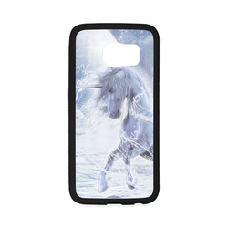 A dreamlike unicorn wades through the water Rubber Case for Samsung Galaxy S6 Edge