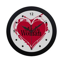 NASTY WOMAN ART HEART for powerwomen Circular Plastic Wall clock