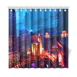 """Chicago PopArt 20161101 Shower Curtain 72""""x72"""""""