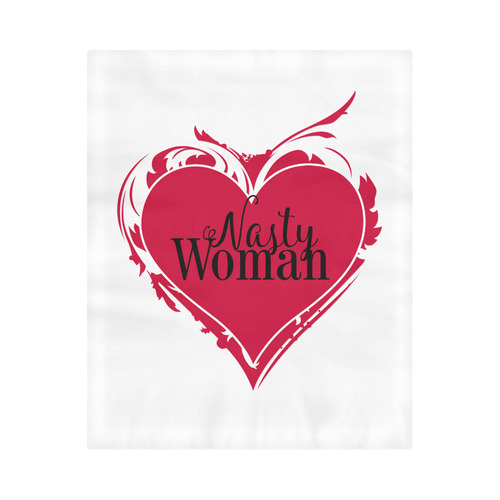"NASTY WOMAN ART HEART for powerwomen Duvet Cover 86""x70"" ( All-over-print)"