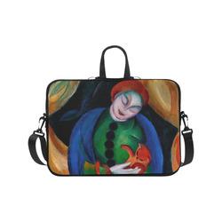 """Girl With Cat II Laptop Handbags 17"""""""