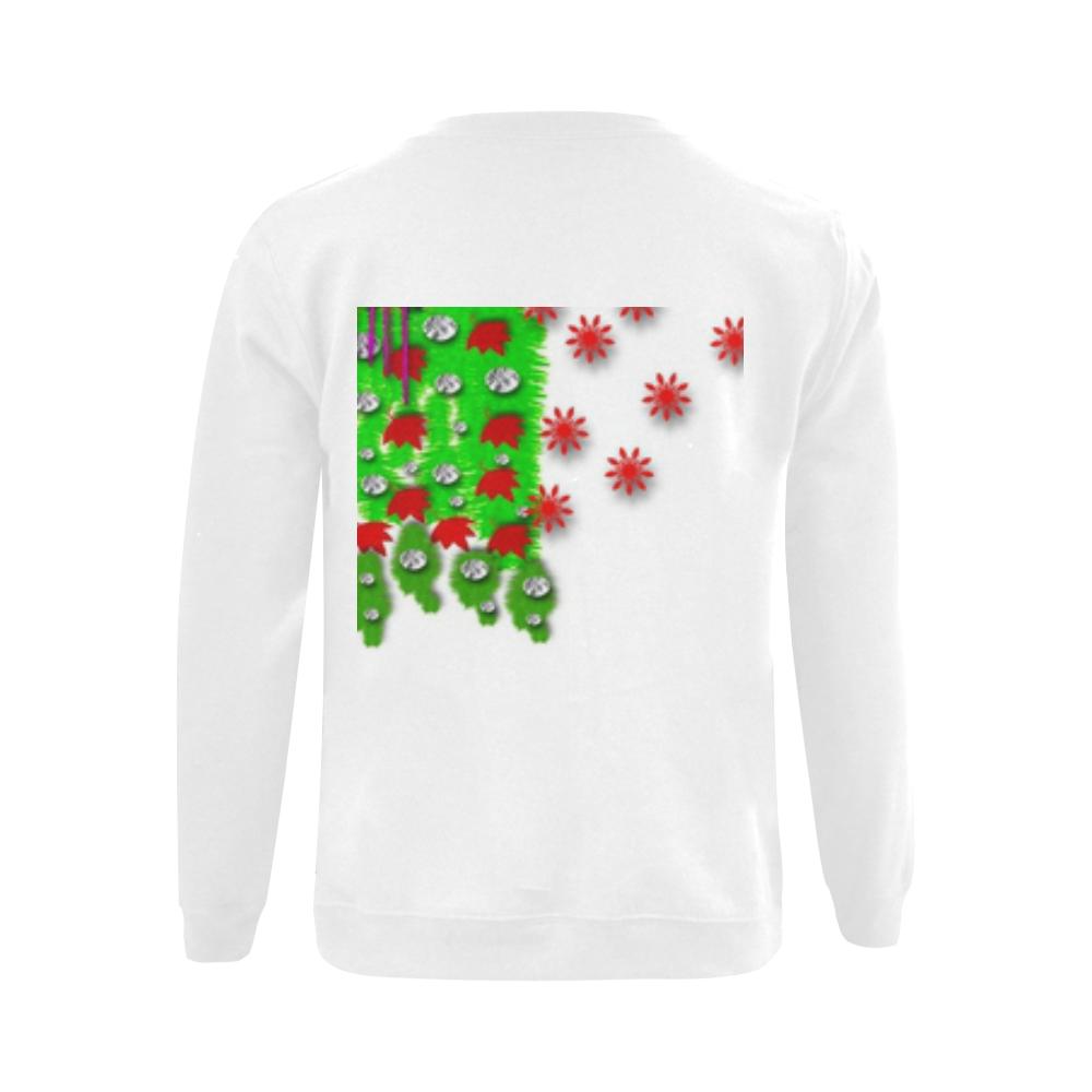 Lady Santa Gildan Crewneck Sweatshirt(NEW) (Model H01)