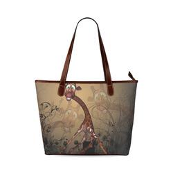 Sweet, cute giraffe Shoulder Tote Bag (Model 1646)