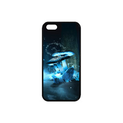 Blue Ice Fairytale World Rubber Case for iPhone SE
