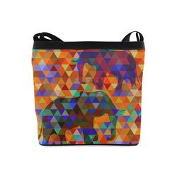 Modern Triangle Pattern Elephants Crossbody Bags (Model 1613)
