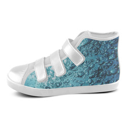 under water 1 Velcro High Top Canvas Kid's Shoes (Model 015)