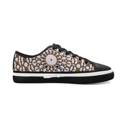 Mandala Pattern CB Women's Canvas Zipper Shoes/Large Size (Model 001)