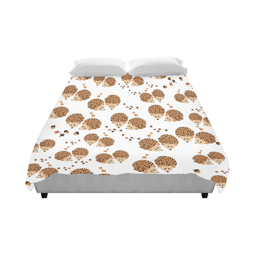 """Hedgehogs in autumn Duvet Cover 86""""x70"""" ( All-over-print)"""
